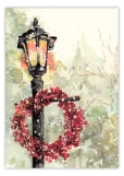 Lamplight Flurry Christmas Card