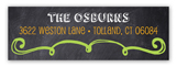 Halloween Chalkboard Address Label