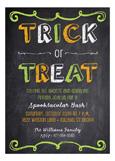 Halloween Chalkboard Invitation