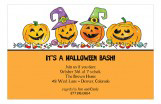 Halloween Four Pumpkins Invitation