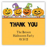 Halloween Four Pumpkins Square Sticker