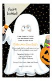 Halloween Party Kids Ghost Invitations