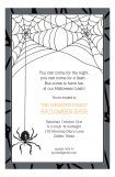 Halloween Spider Invitation