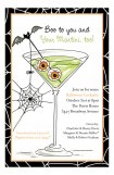 Halloween Spidertini Invitation