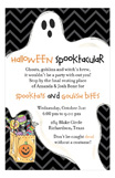 Halloween Trick Treat Ghost Invitation