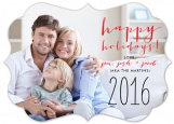 Happy Handwritten Holiday Photo Card