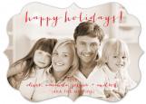 Happy Handwritten Holiday Bracket Photo Card