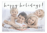 Happy Handwritten Holidays Photo Card