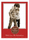 Happy Holiday Burlap Photo Card