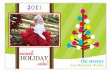 Happy Holiday Tree Photo Card