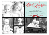 Happy Holidays Bow Collage Photo Card