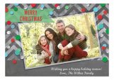 Happy Holidays Confetti Photo Card