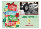 Happy Merry Bright Photo Card