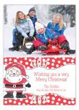 Happy Santa Photo Card