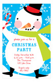 Happy Snowman Invitation
