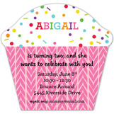 Happy Sprinkle Cupcake Pink Invitation