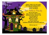 Haunted House Trick or Treat Party Invitations