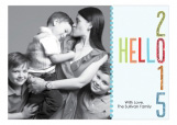 Hello New Year Family Photo Cards