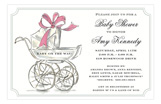 Her Carriage Girl Baby Shower Invites