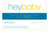 Hey Baby Blue Invitation