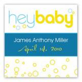 Hey Baby Blue Sticker