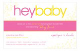 Hey Baby Pink Invitation