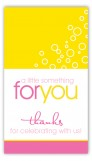 Hey Baby Pink and Yellow Rectangular Gift Tag