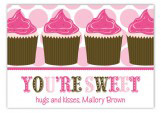 Hey Cupcake Pink Valentine Card