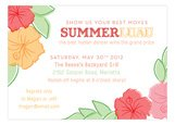 Hibiscus Bunch Luau Invitations
