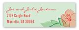 Hibiscus Holiday Address Label