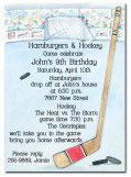 Hockey Party Invitation
