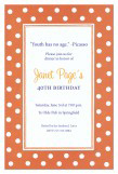 Hokey Pokey Orange Invitation