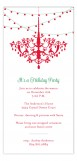 Holiday Chandelier Invitation