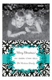 Holiday Cheers Blue Photo Card