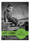Holiday Dot Green Photo Card