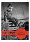 Holiday Dot Red Photo Card