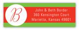 Holiday Dot White Address Label