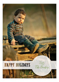 Holiday Dot White Photo Card