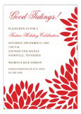 Holiday Flower Invitation