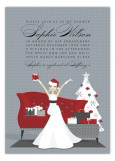 Holiday Glamour Bride Invitation