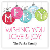 Holiday Merry Ornaments Square Sticker