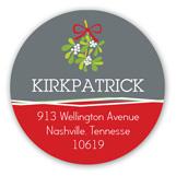 Holiday Mistletoe Kisses Round Sticker