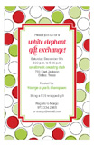 Holiday Modern Dots Invitation