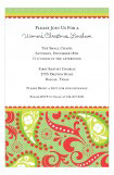 Holiday Paisley Invitation
