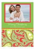 Holiday Paisley Photo Card