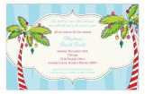 Holiday Palms Invitation