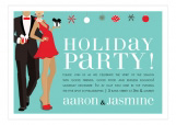 Holiday Party Couple African American Invitation