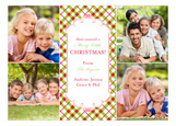 Holiday Plaid Photo Card