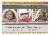 Holiday Gold Sparkle Photo Card