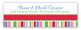 Holiday Style Collage Address Label